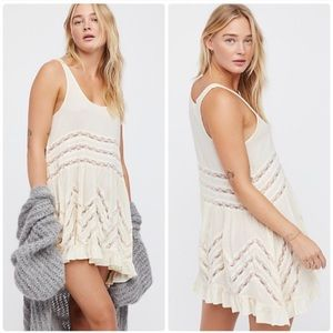 Free People | NWT Voile Lace Trapeze Slip Dress
